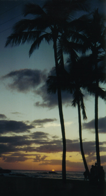 Sunset Over Waimea Bay 3/3/01